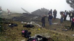 Imagen de los restos del avión siniestrado en mayo de 2003 en Trebisonda (Turquía)