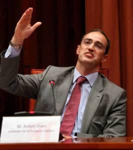Antonio Vives, durante su comparecencia ante la comisión de investigación en julio de 2010