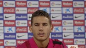 El defensa francés del Atlético de Madrid, Lucas Hernández